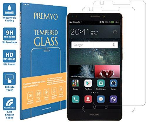 PREMYO 2 Pezzi Pellicola Vetro Temperato Compatibile con Huawei Mate S Protezione Schermo Durezza 9H Bordi 2,5D Anti-Graffi Bolle Impronte