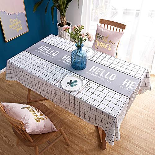 YXDZ Nordic Table Basse Bureau Étudiant Nappe PVC Jetable Nappe Rectangulaire Serviette De Couverture De Meuble De Télévision