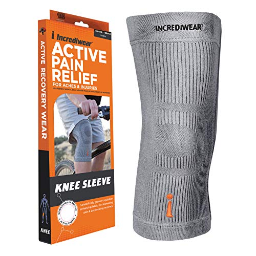 """Incrediwear Knee Sleeve – Knee Brace for Joint Pain Relief & Swelling, Knee Support For Women and Men for Working Out, Running and Muscle Pain Relief, Fits 18""""-22"""" Above Kneecap (Grey, XX-Large)"""