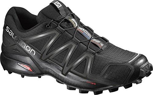 Salomon Speedcross 4, Men - Trail running shoes, Chaussures de course, Homme, Noir (Black/Black/Black Metallic), EU 43 1/3
