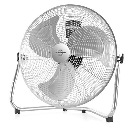Orbegozo PW 0851 - Ventilador industrial Power Fan, aspas metálicas de 50 cm de diámetro, 3 velocidades, asa de transporte, rejilla de seguridad, 155 W