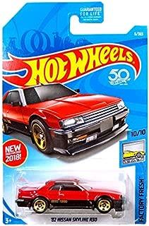 Hot Wheels 2018 50th Anniversary Factory Fresh '82 Nissan Skyline R30 6/365, Red