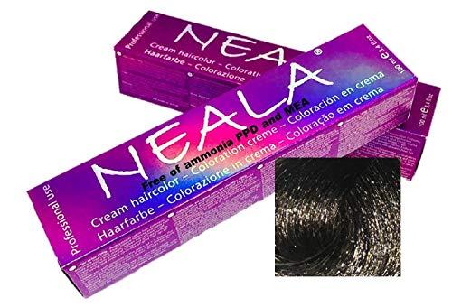 Tintura professionale colorazione per capelli SENZA AMMONIACA, PPD o MEA - 3.1- CASTANO SCURO CENERE - NEALA 100ml.
