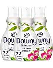 Downy Naturals Concentrate Fabric Softener Silk Tree Blossom Scent, 3 x 880 ml