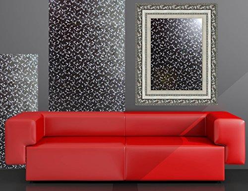 Plakfolie meubelfolie zwart met zilveren ranken 90 cm x 330 cm knutselfolie zelfklevende folie designfolie