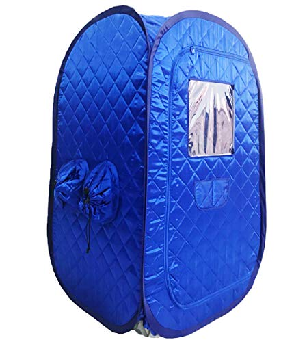 ZONEMEL Portable Steam Sauna Tent, Lightweight Folding Tent, Personal Steam Sauna SPA for Weight Loss Detox Therapy, Steamer NOT Included (Blue)
