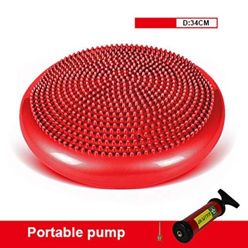 Wobble Kussen Voor Oefening Balans, Stabiliteit Disc Met Handpomp, 34Cm,Red