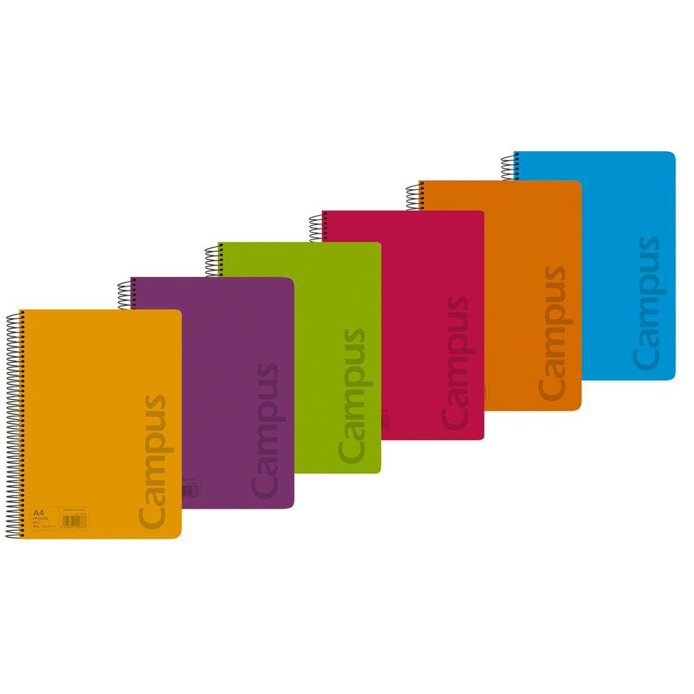 Campus University 002427 - Pack de 6 blocs de papel, 80 hojas, A4 ...
