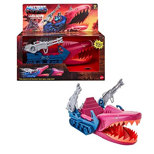 Maîtres de l'Univers Origins véhicule Land Shark, moyen de transport emblématique de Skeletor, jouet pour collectionneurs et enfants dès 6 ans, GXP43