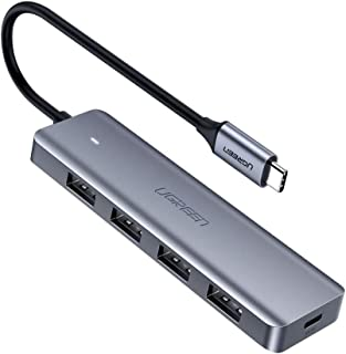UGREEN USB C Hub 4 Ports USB Type C to USB 3.0 Hub Adapter with Micro USB for MacBook Pro, iMac, Samsung Galaxy Note 10 S10 S9, LG, Google Chromebook Pixelbook, Dell XPS, Oculus Rift S,Lenovo Yoga