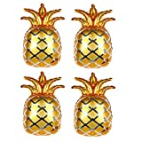 4 Pcs Pineapple Foil Balloons 27x17 Inch Party Balloon Mylar Balloon Pineapple Banner Balloons SDecoration Suppies