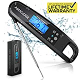 [Upgraded 2020 Version] Gekrtek Digital Meat Thermometer for Grill and Cooking, 2S Best Super Fast Instant Read Waterproof Kitchen Thermometer Probe for Food, Candy, Liquids, oil, Grilling