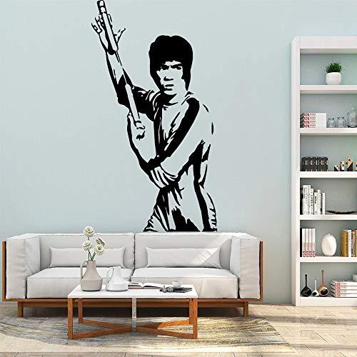 Clásico Kung Fu Bruce Lee vinilo niños habitación decoración del hogar pegatina de pared