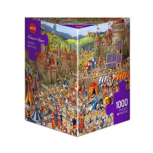 Heye Jigsaw Puzzle - Triangular 1000 Piece - Bunny Battles, Ruyer