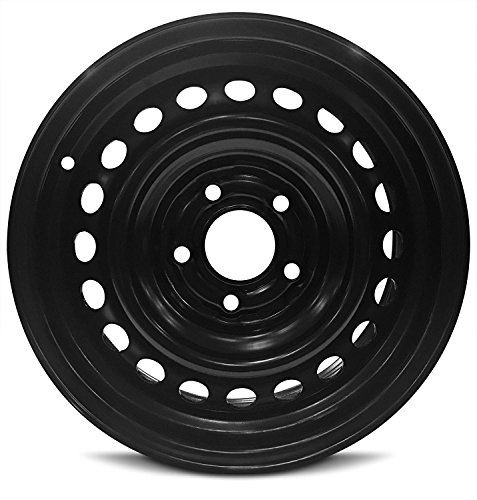 Road Ready Car Wheel For 2010-2013 Kia Soul Steel 15 Inch 5 Lug Black Steel Rim Fits R15 Tire - Exact OEM Replacement - Full-Size Spare