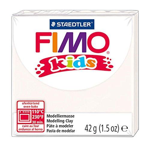 Staedtler 8030-0 - Fimo Kids Normalblock, 42 g, weiß