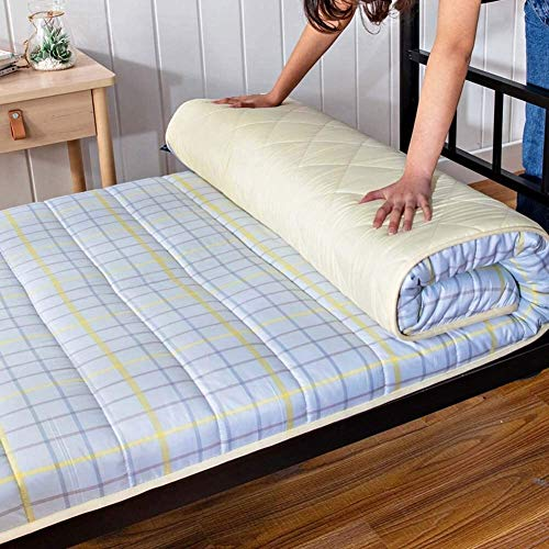 dmsc Colchón de rollito de Plegado futón japonés, colchón de Tatami Antideslizante Tradicional, Ahorro de Espacio, D, 120x190cm (Color : D, Talla : 120 x 190 cm)