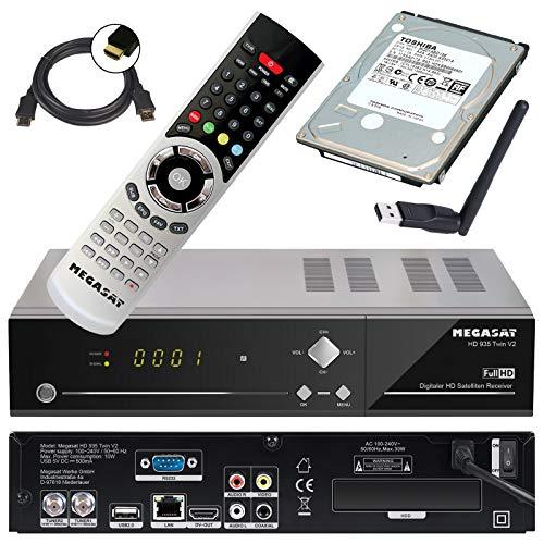 Megasat HD Twin SAT Receiver HD 935 V2 mit 1 TB Festplatte und W-LAN Stick (PVR, USB, LAN, W-LAN, HDMI) Mediacenter und Live TV auf Ihrem mobilen Geräten