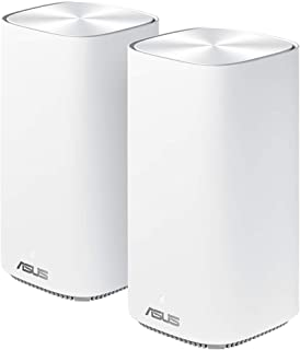 ASUS ZenWifi CD6 - Sistema Wi-Fi Mesh Doble Banda AC1500, Pack de 2 (Cobertura de más de 465m2, AiProtection con TrendMicr...