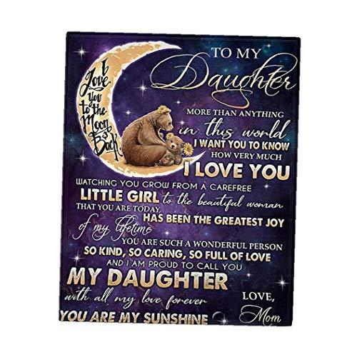 Manta de franela manta del tiro personalizados del sobre de la serie Inglés cartas de doble cara patrón de la colcha para la hija 120x80cm Recuerdos