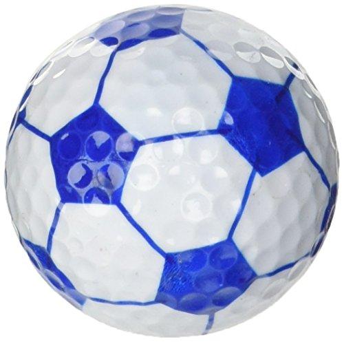 LONGRIDGE, Unisex-Golfbälle in Fußball-Optik, 6 Stück One Size blau