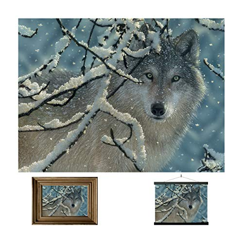 3D LiveLife Lenticular Wall Art Prints - Broken Silence from Deluxebase. Unframed 3D Wolf Poster. A perfect wall filler. Original artwork licensed from renowned artist, Collin Bogle