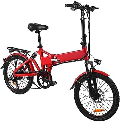 Bicicleta electrica Bicicleta eléctrica de 20 pulgadas 36V Bicicleta plegable de aluminio 7.5A 250W Batería de litio extraíble Batería de litio extraíble Motor eléctrico adulto Motor de montaña Bicicl