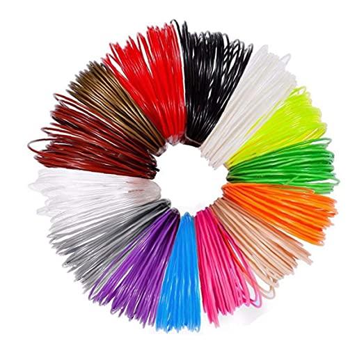 Jorzer 3d Pen Refills High Temperature 1.75mm Pla 3d Printer Filament Refills Different Colors 12pcs