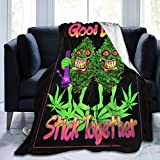 PNNUO Flannel Fleece Blanket-Good Buds Leaf Weed Blanket Throw Size,All-Season Plush Blanket Comfortable & Warm for Couch Bed Or Men Women