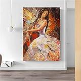 KWzEQ Imprimir en Lienzo Violin Girl Wall Art Picture decoración del hogar para Carteles de Sala de estar40x50cmPintura sin Marco
