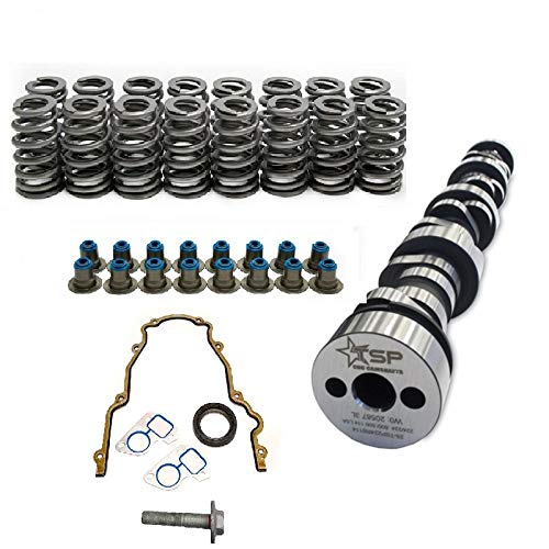 Texas Speed TSP Stage 3 Low Lift Truck Camshaft Vortec Truck Cam 3 Bolt Cam 4.8 5.3 6.0,Includes GM LS6 Single Beehive Valve Springs, Set of 16 and Gasket Set Kit (Camshaft, Springs and Gasket Kit)