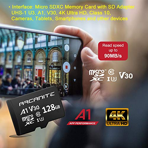 ARCANITE(アルカナイト)『128GBmicroSDXCMemoryCardwithAdapter(AKV30A1128)』