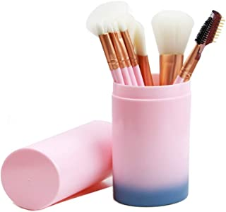 STELLAIRE CHERN 12pcs Synthetic Makeup Brushes Travel Set With Holder Foundation Powder Contour Blush Eye Cosmetic Brush Sets In Case - Gradient