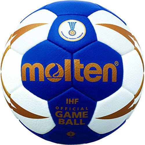 molten Handball H2X5001-BW-HBF, Blau/Weiß/Gold, 2