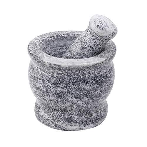 Mörser & Stößel Sets Natürliche Blue Stone geschliffener Grinder Knoblauch Schneiden Hand Maschine Stabile Mörser Set Küche Saucen Mahlbehälters (Color : Bronze)