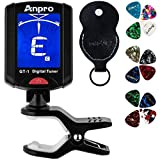 Anpro GT-1 Accordeur de Guitare Tuner 360 Degrés Rotation Digital Timbre...