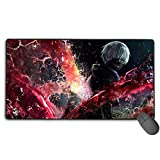 Custom Gaming Mouse Pad with Rubber Base Extra Large Protective Tokyo Ghoul Anime Mouse Mat Best Gaming Keyboard Pad for Boy Gamer