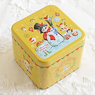 Professional Exquisite Cartoon 3d Relief Square Candy Box Storage Tin Biscuit Tea, Clear Solid Cube - Milk Glass Candy Dish, Relief Tile, X Square Baking Molds, Art Deco Crystal Bowls