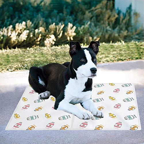 Kühlmatte für Hunde - Druckaktivierte Gel-Hundekühlmatte - Sie müssen Dieses Coole Haustier-Pad Nicht einfrieren oder kühlen - Halten Sie Ihr Haustier kühl, verwenden Sie es drinnen, draußen