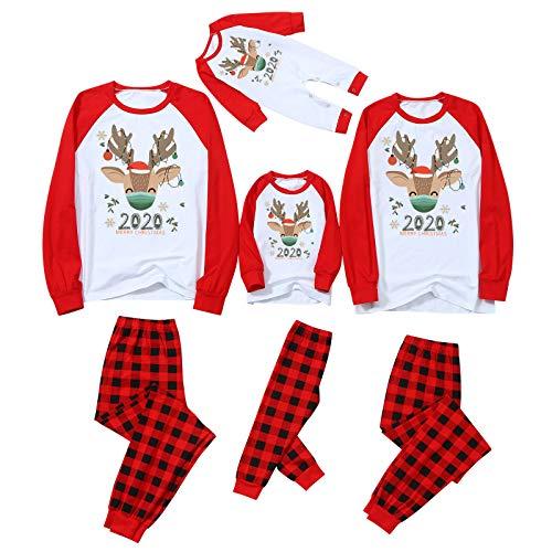Pyjama für Weihnachten, Familie, Nachtwäsche, Baumwollkostüm, langärmelig, Hemden + lange Hose, Sweatshirt, Winter, Weihnachts-Sweatshirt, Frühling, für Männer, Frauen, Kinder Gr. 0-3 Monate, Typ A.