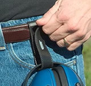 Ear Muff Holder, Black, Belt Strap, Flexible PVC, Hook & Loop Closure, 15714
