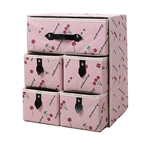 収納ボックス折りたたみ収納ボックス引き出し折りたたみ収納引き出し収納ボックス引き出しボックスアクセサリー 収納 (ピンクチェリー(粉?桃))