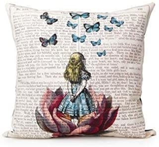 Cukudy Unique Fashion Design Satin Fabric Throw Pillow Case Square 18 x 18 Inches Cushion Cove