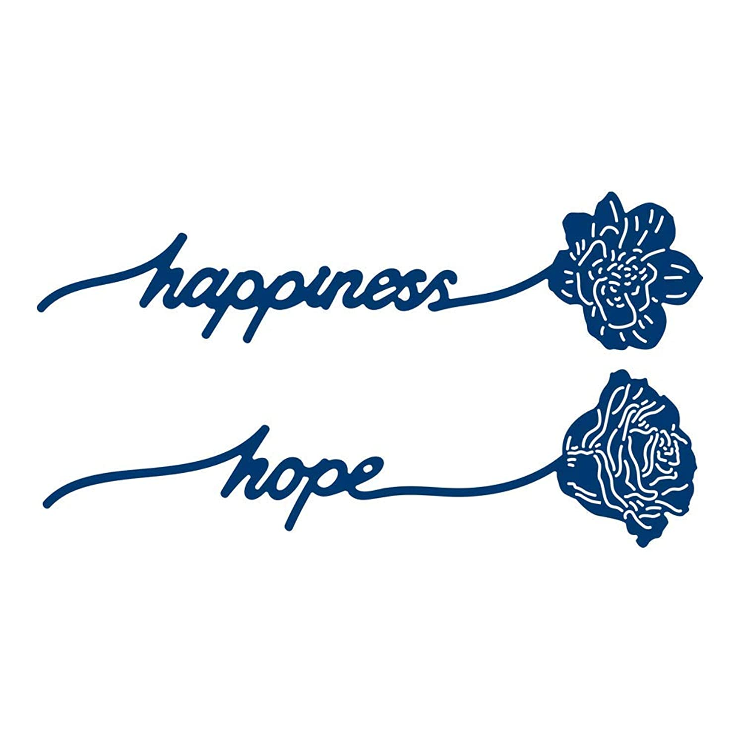 Tattered Lace Sentiment Stems Happiness & Hope Die, N Applicable
