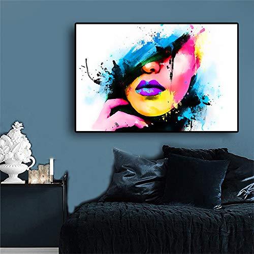 Zwarte Hoge Hoed Elegante Dame Mooi Meisje Zwart N Wit Poster Print Mode Canvas Schilderij Voor Woonkamer Meisjes Kamer Wanddecoratie 58x90cm GEEN Frame