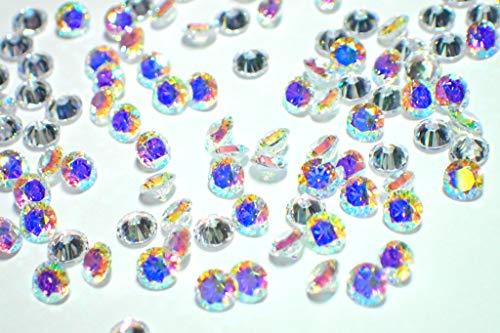 3mm 100個セット オーロラAB AAAAAキュービックジルコニア ルース(裸石) ラウンドブリリアントカット 3ミリ 人工ダイヤモンド レジンクラフト ハーバリウム