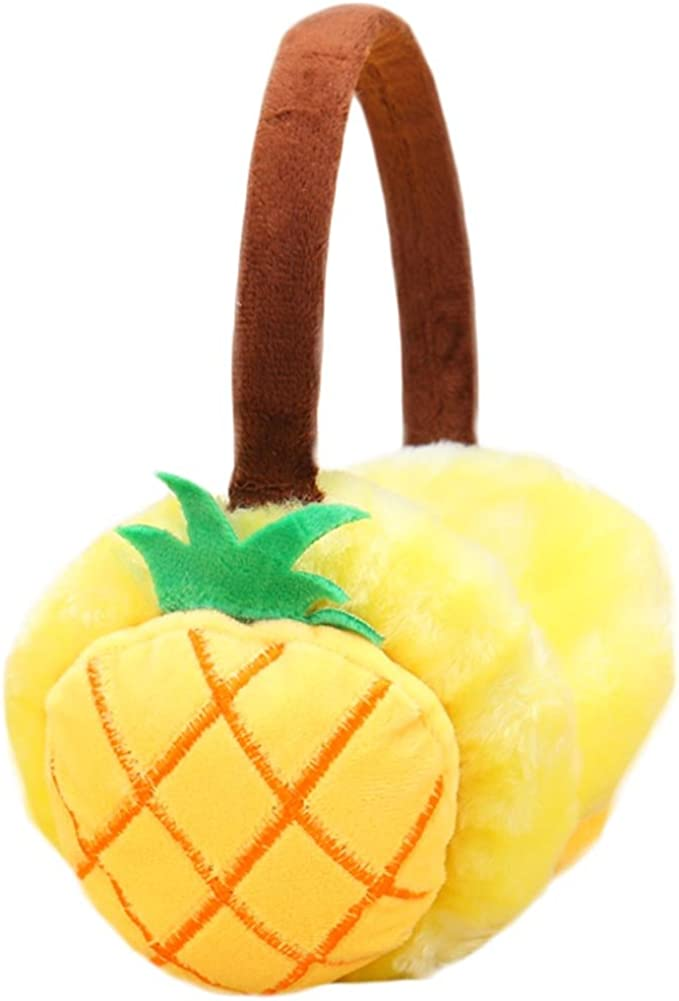 Set Of 3 Cute Ear Warmer Earmuffs Ear protection Winter decorations(Pineapple)