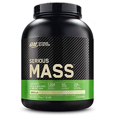 Optimum Nutrition Serious Mass Protein Powder High Calorie Mass Gainer with Vitamins, Creatine and Glutamine, Vanilla, 8 Servings, 2.73 kg