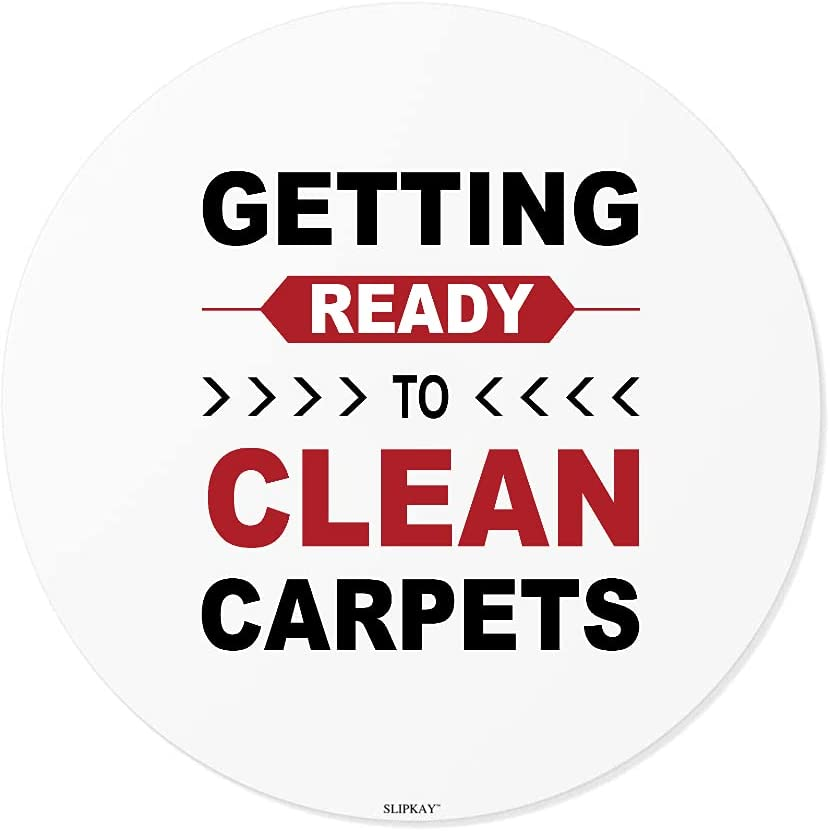 Carpet Cleaner Job Getting Ready Clean Carpets to Round Stickers NEW Cheap mail order sales