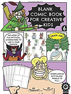 Blank Comic Book For Creative Kids: Mythical Figures Edition